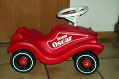 When we were kids, my younger sister had one of those red Little Tikes Cozy Coupe cars, which was all well and good until you had to Fred Flintstone it. Bobby Car, 3d Printing Technology, Treasure Boxes, Tricycle, Vinyl, Car Parts, Toys, Children, Prints