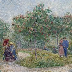 Vincent van Gogh Garden with Courting Couples: Square Saint-Pierre (detail)