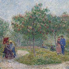 Vincent van Gogh Garden with Courting Couples: Square Saint-Pierre (detail)