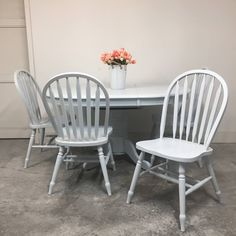 Dated dining table went from shabby to chic using Vintage Denim Chalk Furniture Paint! Refinished by Do you have a you would like to share? Don't forget to tag us for your chance to be featured! Chalk Paint Furniture, Furniture Design, Dining Chairs, Dining Table, Paint Companies, Vintage Denim, Modern Farmhouse, Relax, Don't Forget