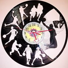 DIY BASKETBALL Decorative Designed Modern Vinyl Record Wall Clock Silent Large New Bedroom Livingroom Office Decor Analog Universal Decorate your home Best gift for friend, girlfriend or boyfriend , 12 inch Vinyl Record Crafts, Vinyl Record Clock, Record Art, Vinyl Records, Home Clock, Clock Art, Diy Clock, Buy Vinyl, Vinyl Art