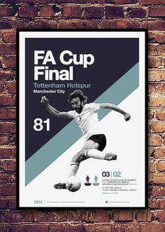 Sports Graphic Design, Graphic Design Posters, Tottenham Hotspur Players, Image Foot, London Pride, White Hart Lane, Soccer Poster, Fa Cup Final, Football Design