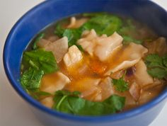 Thenthuk - Tibetan Noodle soup. I had this in Tibetan restaurant in Kathmandu and fell in love! Best soup ever!