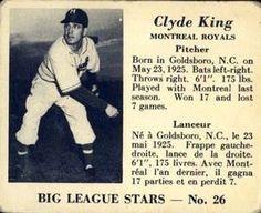 1950 Big League Stars (V362) #26 Clyde King Front