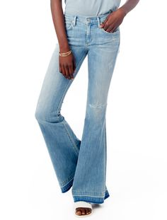 The 70's ultra flare is back and this time, in a comfortable stretch denim. #WearAlternative