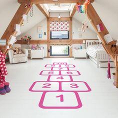 children's room accessories, floor stickers, hopscotch floor sticker, oakdene designs, Notonthehighstreet, published by Bobby Rabbit