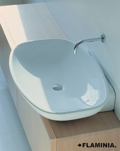 Nuda is a range of basins with a geometrical shape but without a rigid definition. With Nuda our research is. Bathroom Basin, Master Bathroom, Corinthian, Powder Room, Sink, Bathtub, Pure Products, House, Bathrooms