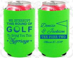 We interrupt this round of Golf to Bring you this Marriage, Neoprene Wedding, Golf Wedding, Neoprene Wedding Favors (315)
