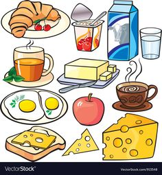 Illustration about Breakfast icons set on a white background. Illustration of croissants, mint, breakfast - 17927453 Breakfast Clipart, Food Doodles, Science Activities For Kids, Food Drawing, Food Illustrations, Kids Nutrition, Icon Set, Food Art, Vector Free