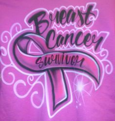 The perfect airbrush design can show your support in fighting the battle of breast cancer. If you are celebrating the battle won or showing your support in fighting the battle a beautiful airbrushed t-shirt may lift spirits. Airbrush Designs, Airbrush Art, Breast Cancer Survivor, Breast Cancer Awareness, Airbrush Shirts, Cancer Tattoos, Bone Cancer, Custom Airbrushing, Cancer Quotes