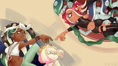 /r/splatoon is your one stop shop for all things Splatoon, 1 or Home to squids, kids, and all things octolings. Mario Characters, Cool Artwork, Geek Culture, Pearl And Marina, Art, Anime, Pictures, Splatoon, Fan Art