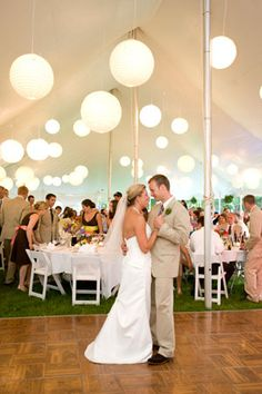 Beautiful outdoor wedding reception in the Finger Lakes