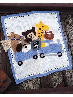 Critter Caboose Afghan Crochet a Cute Baby Afghan Baby Afghan Patterns, Baby Afghan Crochet, Baby Afghans, Cute Babies, New Baby Products, Kids Rugs, Knitting, Crocheting, Fun