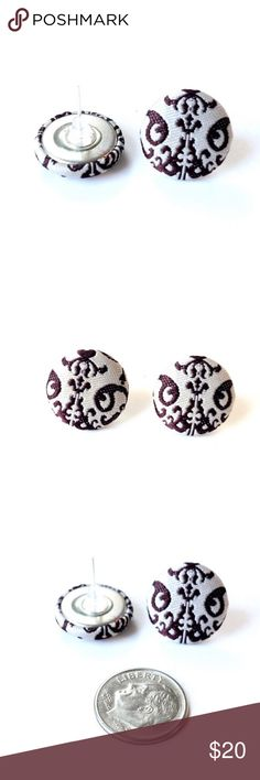 Handmade Earrings Damask Scroll Buttons LAST PAIR LEFT. Handmade. Previously featured on etsy. Super cool, unique style can be dressed up for down. More styles available in my closet. Discounts on bundles - 3 pair for $20 OR 5 pair for $30. Add to bundle and make that offer and I'll accept! RackFocus Jewelry Earrings