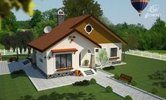 Case frumoase. 3 proiecte cu o arhitectura speciala, pentru o locuinta de vis Modern Bungalow House Design, Simple House Design, Dream Home Design, Beautiful House Plans, Dream House Plans, Beautiful Homes, Beautiful Beautiful, Village House Design, Village Houses