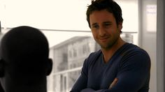 Alex O'Loughlin as Dr Andy Yablonsky - Three Rivers Long Underwear, Three Rivers, Alex O'loughlin, Medical, Hot, Face, Centre, Smile, Collection