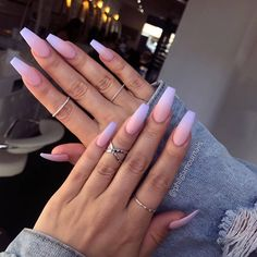 55 Best & Simple Nail Art Designs for 2019 Lady Nail art designs are quite a popular thing amongst girls. Just Explore here and see our Best & Easy Nail Art Designs to make your finger more beautiful. So must try it and make your day more beautiful. Acrylic Nails Natural, Simple Acrylic Nails, Summer Acrylic Nails, Best Acrylic Nails, Simple Nail Art Designs, Acrylic Nail Designs, Ombre Nail Designs, Acrylic Art, Purple And Pink Nails