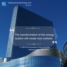 The transformation of the energy system will create new markets. New Market, Renewable Energy, Economics, Innovation, Technology, Marketing, Create, How To Make, Tech