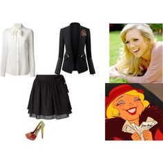 Charlotte - Gryffindor by ilovecats-886 on Polyvore featuring Dolce&Gabbana, Sam&Lavi and Disney