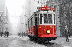 Wall decor    Winter Photography Tram photography winter by gonulk