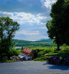 Looking to the West, from Tihany Abbey, in the distance the excellent wine region of Badacsony, north of Lake Balaton Budapest, How Beautiful, Beautiful Places, Travelogue, Homeland, Color Inspiration, Countryside, Distance, Journey