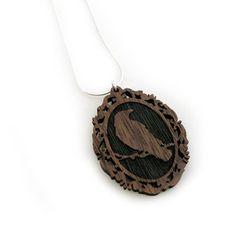 crow cameo pendant