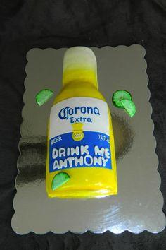 Corona beer bottle cake