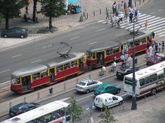 Bild: Straßenbahn in Warschau