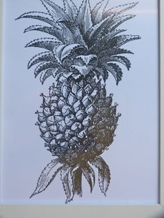 coastal vintage pineapple framed print beach by beachcomberhome