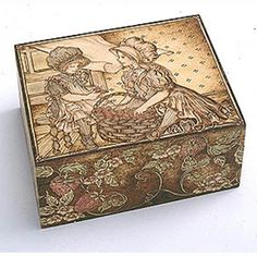 Beautiful Woodburned Box by Cate Kenny for Walnut Hollow