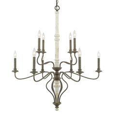 French Country Curve Chandelier- Large - Shades of Light