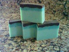 """Thin Mint  mint and cocoa mixed in a very by KarensSoapsandMore, $6.00  Visit and be sure and """"like"""" my facebook page: https://www.facebook.com/pages/Karens-Soaps-More"""