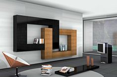 The Infinity Wall Unit boasts changes of depths and dimensions of the closed or open storage units, thin shelves make modularity and matching of different colors and essences extremely flexible as to obtain the utmost artistic and personalized res. Tv Unit Design, Tv Wall Design, Ceiling Design, Tv Unit Furniture, Home Decor Furniture, Furniture Design, Tv Wall Decor, Bathroom Wall Decor, Living Room Designs