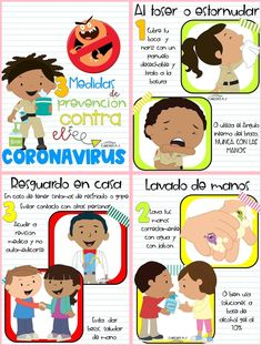 The Best Posters, Triptychs, Infographics and Tales about the Coronavirus. - The Best Posters, Triptychs, Infographics and Tales about the Coronavirus. Informative posters for - Spanish Classroom, Teaching Spanish, Teaching Kids, Germs For Kids, Behavior Cards, Hygiene, Kids Corner, Teaching Materials, Cool Posters