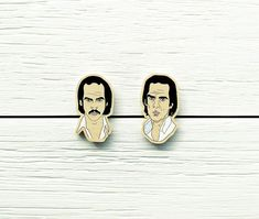 Nick Cave Set of Two Wooden Pins Music gothic rock and The Bad Seeds Birthday Party Australia Skeleton Tree Push the Sky Away