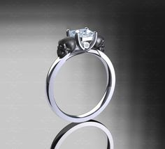 'Harlow' 1.20ct Asscher Cut Gold Skull Engagement Ring – Choose your metal