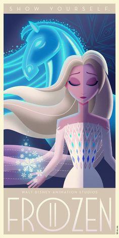 Frozen II Art Deco poster by DavidGFerrero on DeviantArt