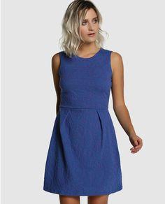 Vestido de mujer Fórmula Joven azul con estampado jacquard