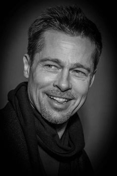 Brad Pitt - Photo Black and White Film - Black and white photo Brad Pitt - Deco Photo - Art Photography - - Picture taken in Paris in 2017