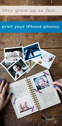 The perfect way to hold on to memories - print your iPhone photos and get them delivered to your door each month. Foto Fun, Instagram Prints, Scrapbooking, Photo Journal, Iphone Photography, Photo Tips, Family Photography, Photography Tips, Photo Book