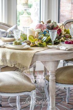 A Storied Farm Table | Plush Pumpkin Giveaway | Edith & Evelyn Vintage | www.edithandevelynvintage.com