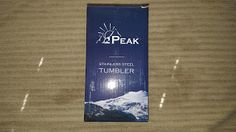 My Product Reviews and Thoughts: Peak Vacuum Insulated Stainless Steel Travel Tumbl...
