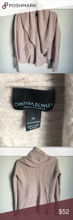 Cynthia Rowley Cashmere Cardigan 100% Cashmere women's Cynthia rowley cardigan. Really warm and comfortable. In great condition. Cynthia Rowley Sweaters Cardigans