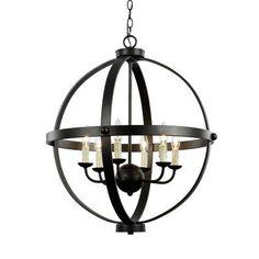 TransGlobe Lighting Old World Sphere 6 Light Globe Pendant