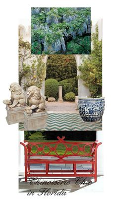 Chinoiserie Chic in Florida: The Courtyard and Front Door- The Glam Pad
