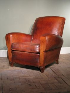 Exceptionnel Pair Of Antique French Leather Club Chairs   Furniture