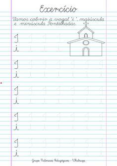 Blog Educação e Transformação: 👍Caligrafia: alfabeto e números Chart, Writing, Letter Recognition, Spanish Language, Cursive, Learning, Being A Writer, Letter, Writing Process