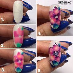 Neon Nails, Diy Nails, Purple And Pink Nails, Nail Art Courses, Summery Nails, Fruit Nail Art, Gel Nail Art Designs, Nail Art Blog, Flower Nail Art