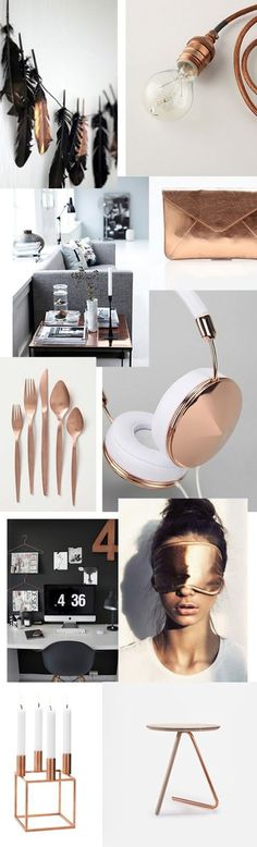 Love this color idea - Copper, navy mixed with soft gold, beige and maroon. Def want copper or a rose gold to be a significant color on my blog.