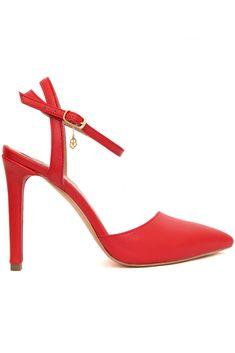 HANNAMI - PANTOFI ROSII CU TOC SUBTIRE GLAM LOOK Glam Look, Stiletto Heels, Shoes, Fashion, Moda, Zapatos, Shoes Outlet, Fashion Styles, Shoe